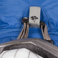 Helmet chin-strap attachment loop