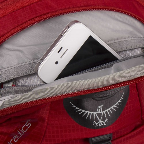 Zippered scratch-free sunglasses and electronics pocket