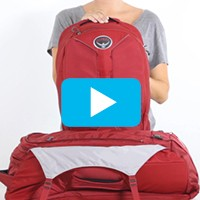 Zip and clip daypack with Port™ window